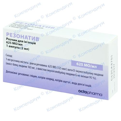 Иммуноглобулин антирезус Rho(D) 1мл амп.№1