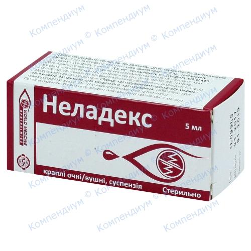 Неладекс краплі очні/вуш.фл. 5мл фото 1, Aptekar.ua