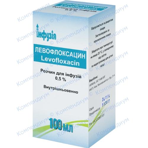 Левофлоксацин р-р д/инф.0,5% бут.100мл