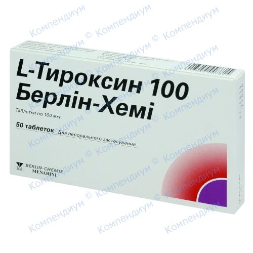 L-тироксин БХ таб.100мкг №50