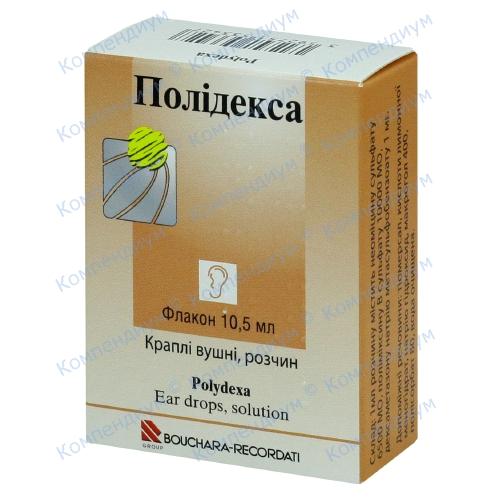 Полідекса вуш.крап. фл. 10,5мл фото 1, Aptekar.ua