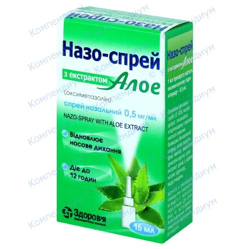 Назо-спрей Алое 0,5мг/мл 15мл фото 1, Aptekar.ua