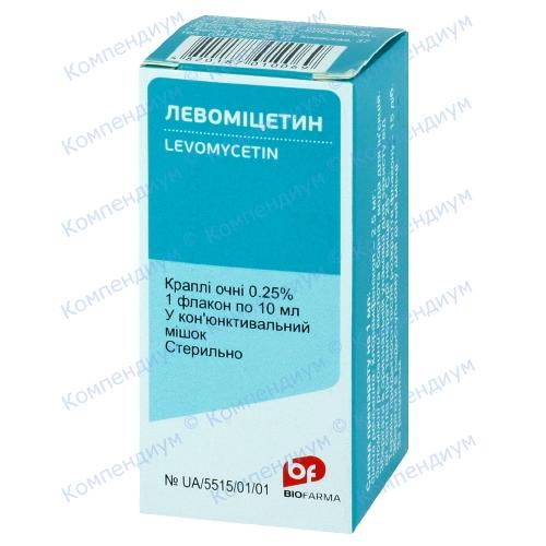 Левомицетин гл.кап.0,25 % фл.10мл