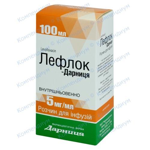 Лефлок р-н д/інф. 5 мг/мл фл.100 мл фото 1, Aptekar.ua