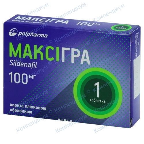 Максігра табл. 100 мг №1 фото 1, Aptekar.ua