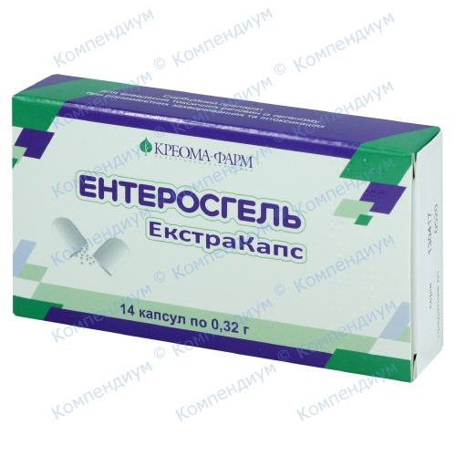 Ентеросгель Екстракапс капс.0.32г №14 фото 1, Aptekar.ua