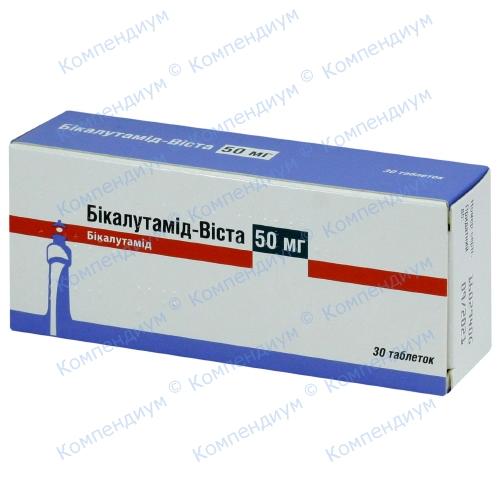 Бікалутамід-Віста табл. 50 мг N30 фото 1, Aptekar.ua