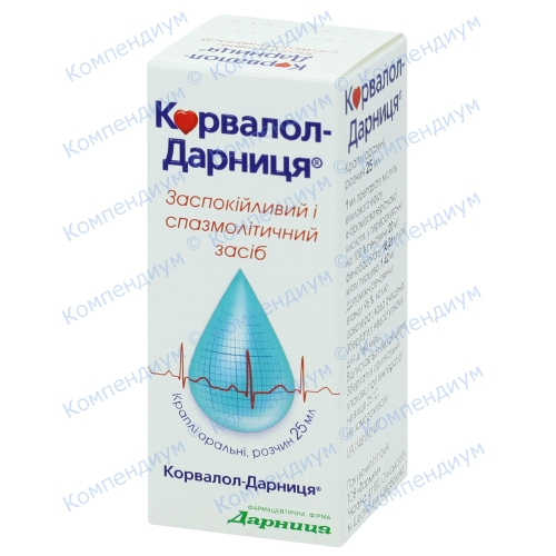 Корвалол-Д краплі фл. 25мл фото 1, Aptekar.ua