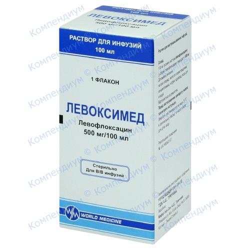 Левоксимед р-н д/інф.500мг/100мл фл100мл фото 1, Aptekar.ua