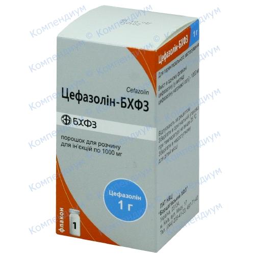 Цефазолин пор.д/ин фл.1000мг №1