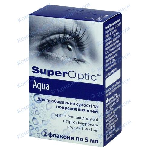 СуперОптік Аква краплі очні звол.5мл фл.№2 фото 1, Aptekar.ua