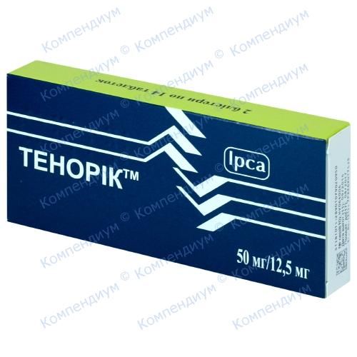 Тенорик табл. 50 мг / 12,5 мг №28 фото 1, Aptekar.ua