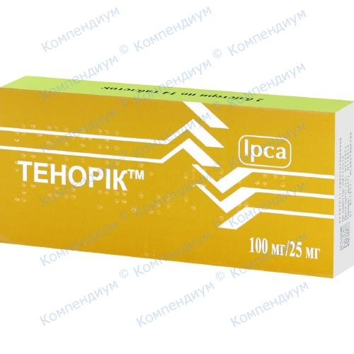 Тенорик табл. 100 мг / 25 мг №28 фото 1, Aptekar.ua