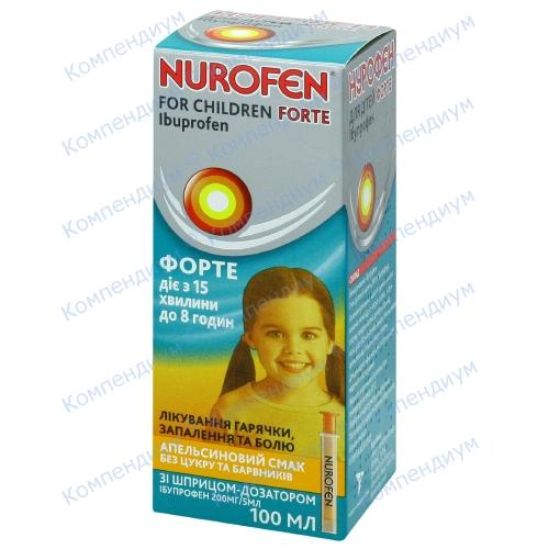 Нурофен Форте сусп.д/дет. апельсин. 200мг/5мл 100мл