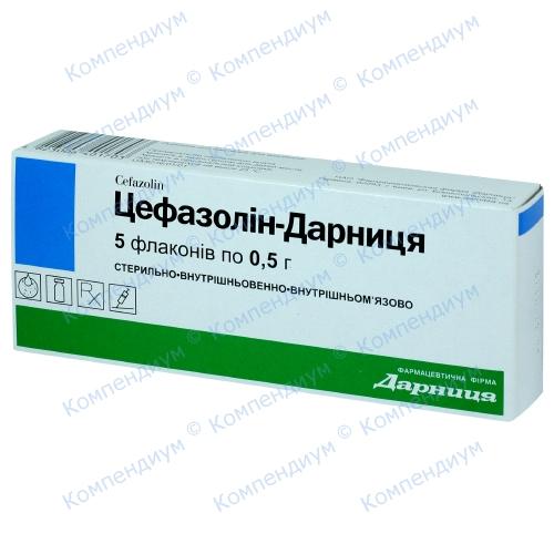 Цефазолин пор.д/ин фл.500мг№5
