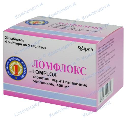 Ломфлокс таб.п/о 400мг №20