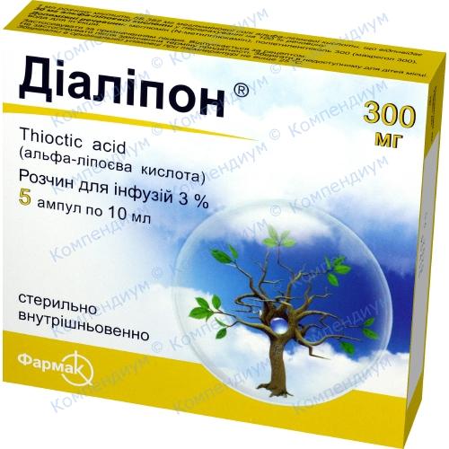 Диалипон р-р д/ин 3% амп. 10мл №5