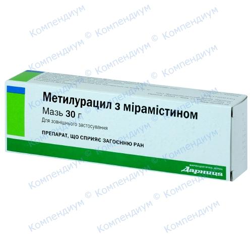 Метилурацил-Д с мирамист мазь туб.30г