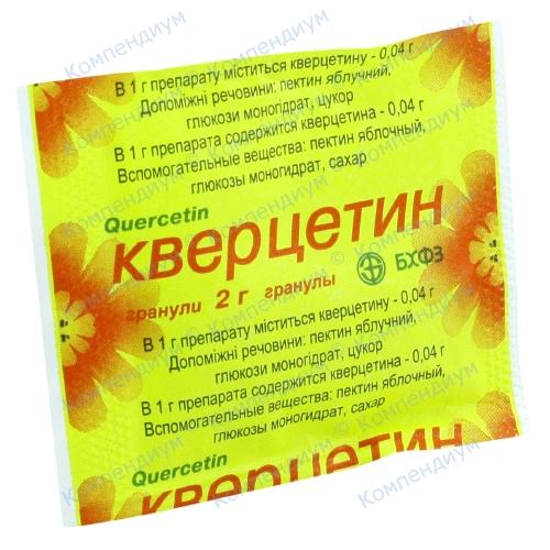 Кверцетин гран.(0,04г/1г)пак.2г