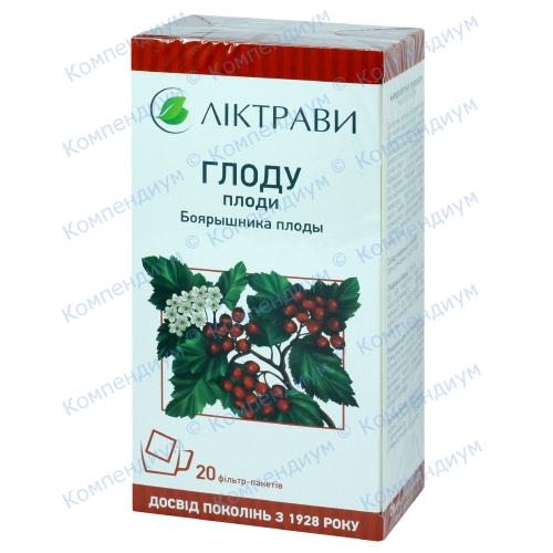 Боярышника плод.4,0 фильтр-пакеты №20