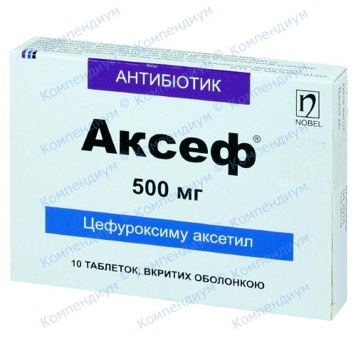 Аксеф таб. п/о 500мг №10