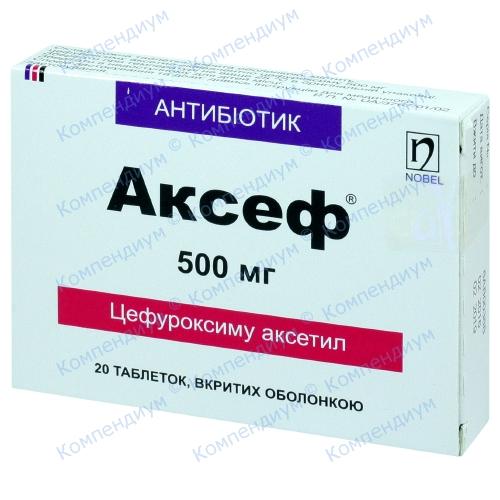 Аксеф таб. п/о 500мг №20