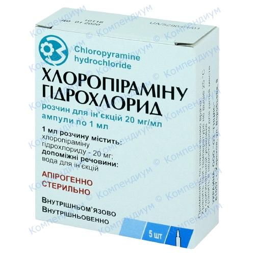 Хлоропирамина г/х амп.2% 1мл №5