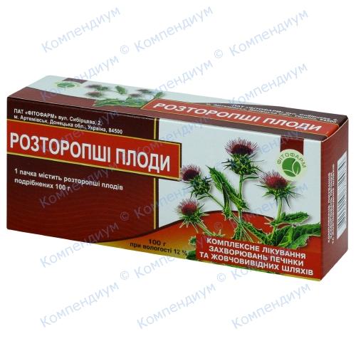 Розторопші подрібн.плод.100г фото 1, Aptekar.ua