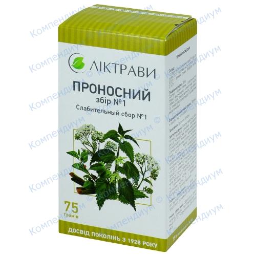 Збір Проносний № 1 пач.75г фото 1, Aptekar.ua