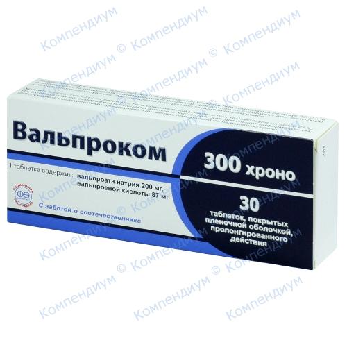 Вальпроком Хроно 300 табл.N30 фото 1, Aptekar.ua