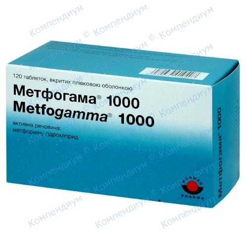 Метфогамма 1000 таб п/о 15*8