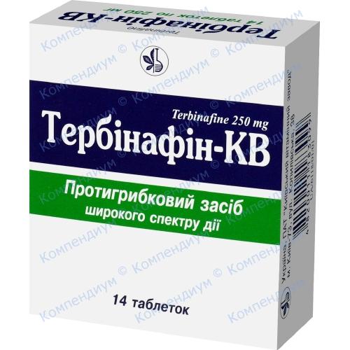 Тербинафин-КВ таб. 025г. №14