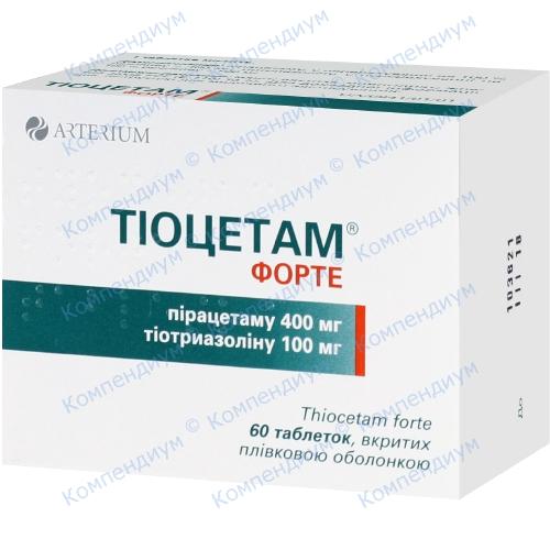 Тіоцетам форте табл. №60 фото 1, Aptekar.ua