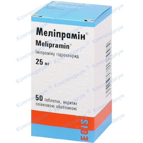 Меліпрамін др. 25 мг № 50 фото 1, Aptekar.ua