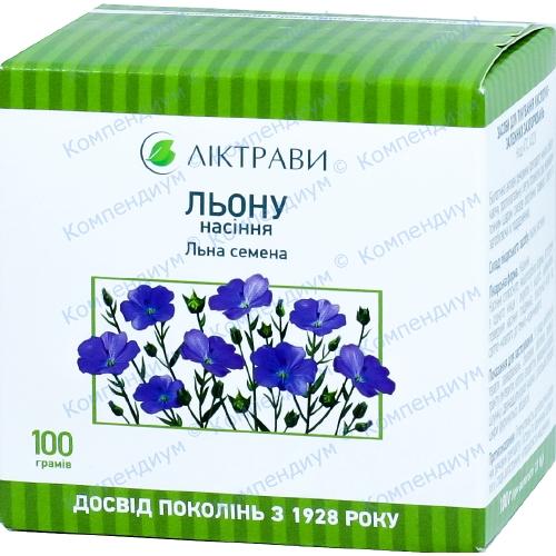 Льону насіння пач.100г фото 1, Aptekar.ua