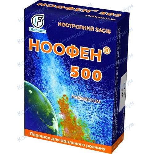 Ноофен 500пор.доз.500мг/доз пак.№5 фото 1, Aptekar.ua